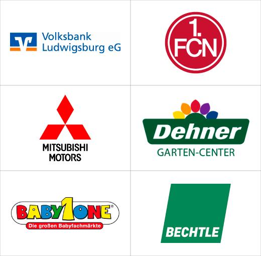 Werbefahnen-Kunden von FBS-Fahnen Heilbronn